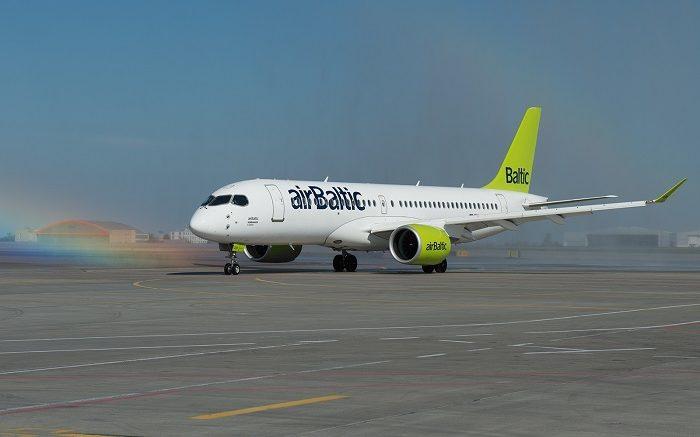 Аэропорт «Шереметьево» впервые принял самолет Bombardier CS300